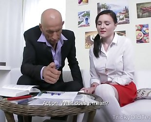 Petite Russian student takes huge pecker up her asshole