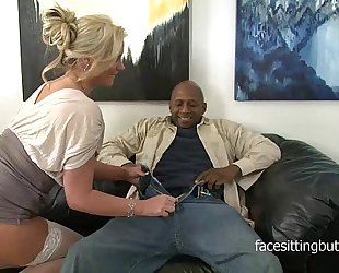Horny cougar has a thing for huge black rods