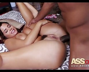 Keisha grey tries anal with obese cock