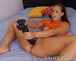 Brunette with beautiful face kelsi monroe big fake ramrod sex