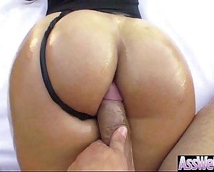 Big soaked oiled butt amateur wife (kelsi monroe) like anal hard style group-sex video-17