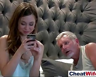 Hardcore gangbang on tape with cheating white wife (riley reid) mov-23