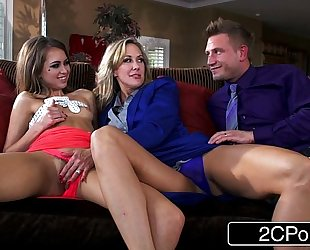 Little doxy riley reid joins married swinger pair with large tit brandi love
