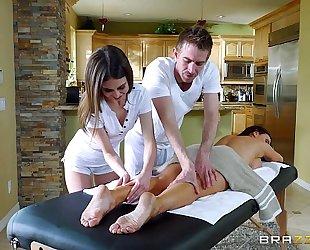 Brazzers.com - hawt three-some massage