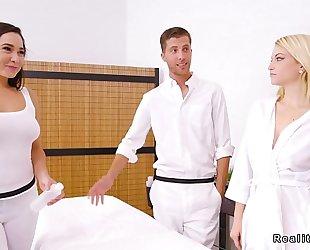 Couple acquires erotic massage