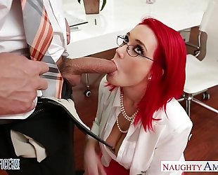 Redhead office honey siri fucking