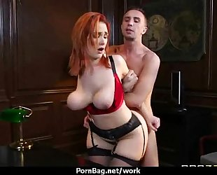 Big titted office milf copulates at work 4
