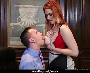 Busty honey is despairing for a raise and bonks her boss and earn it 4