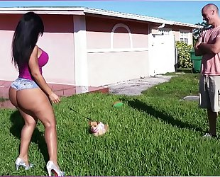Bangbros - latin chick rose monroe's large a-hole bouncing on sean lawless's rod