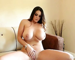 Alison tyler plays with her wet crack