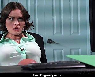 Big-tit lalin girl boss bonks employee's hard-dick in office 15