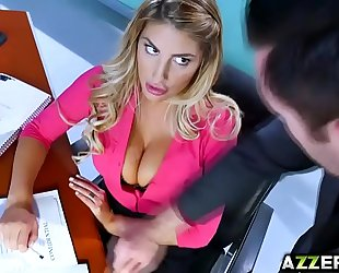 August ames briefs her boss