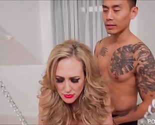 Chained up brandi love is the fuck thrall to a juvenile rod