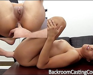 Tall model fucked into ass on casting bed